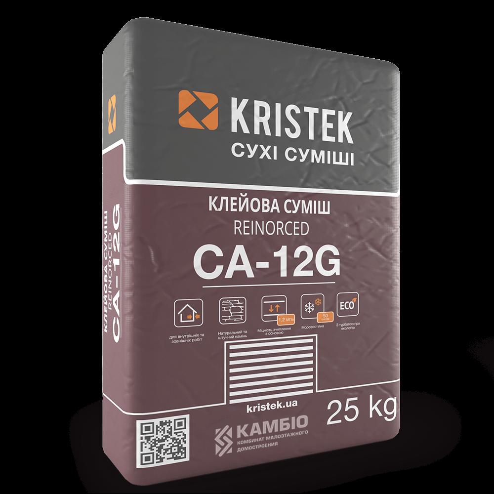 CA-12G Клей для облицовки камнем и стеклом KRISTEK, 25 кг