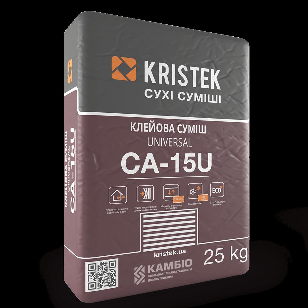 CA-15U Эластичный клей KRISTEK, 25 кг