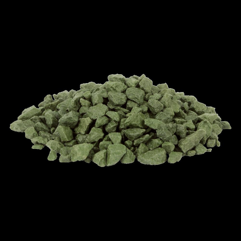 Цветной щебень RAL 6025, Папоротниково-зелёный