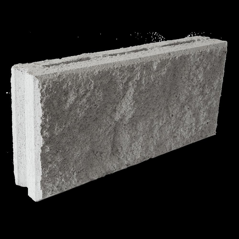 Пустотный бетоноблок 90 (колотый), 390 x 90 x 188 мм