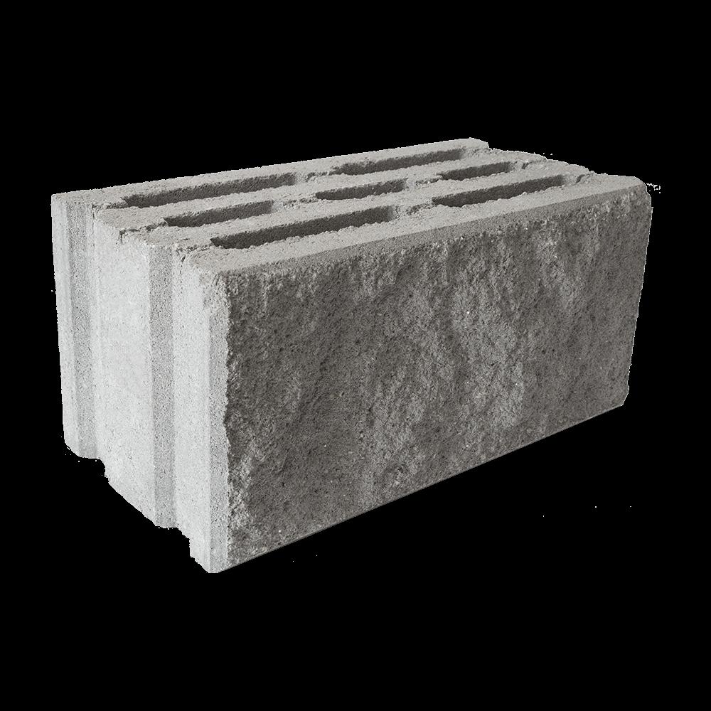 Пустотный бетоноблок 200 (колотый), 390x190x188 мм