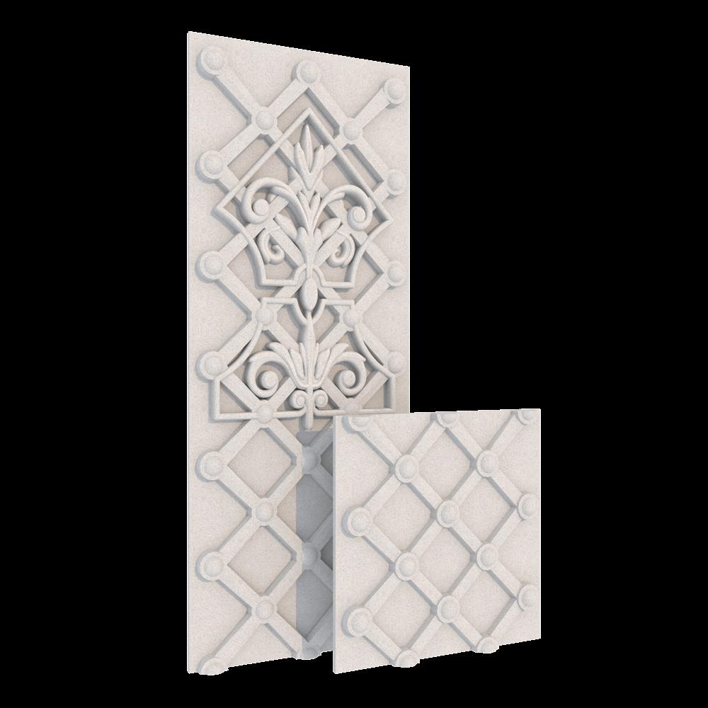 Декор Плетение, 200/500 x 195 x 21 мм