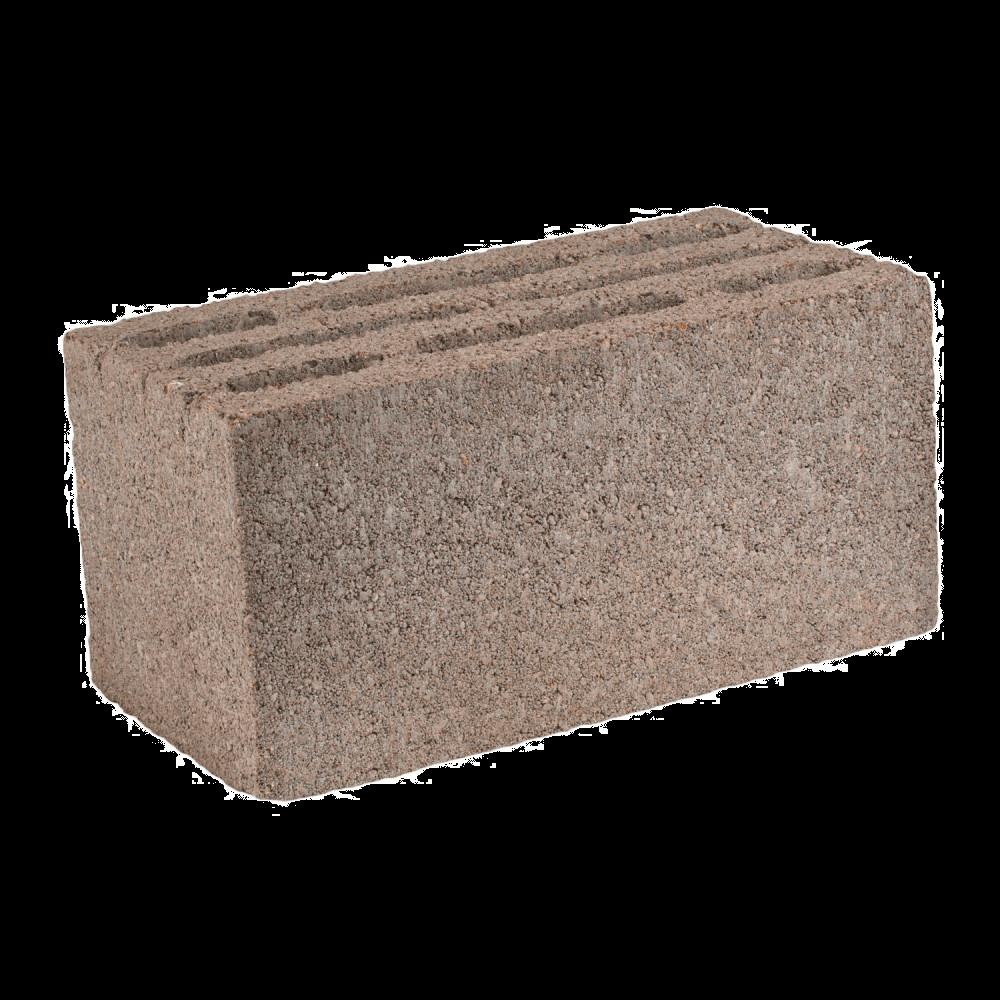 Бетоноблок стеновой основной, 390x190x188 мм