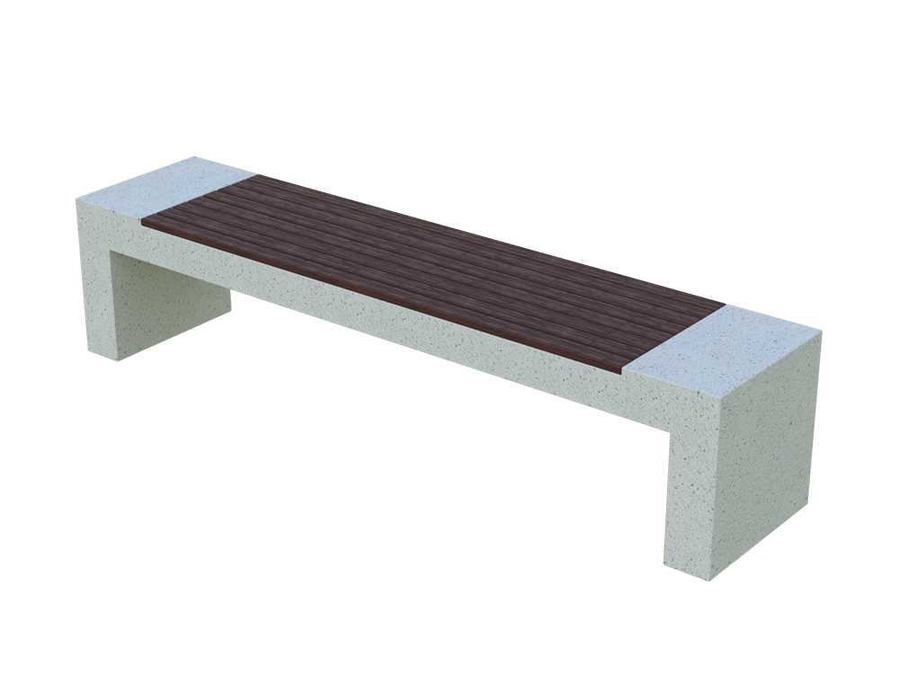 Скамья бетонная Bench Wood (GRAY HOLYSTONE)