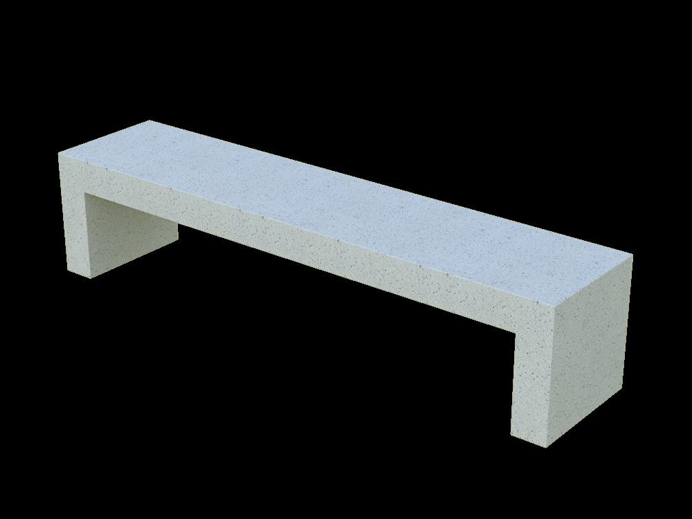 Скамья бетонная Bench (GRAY HOLYSTONE)