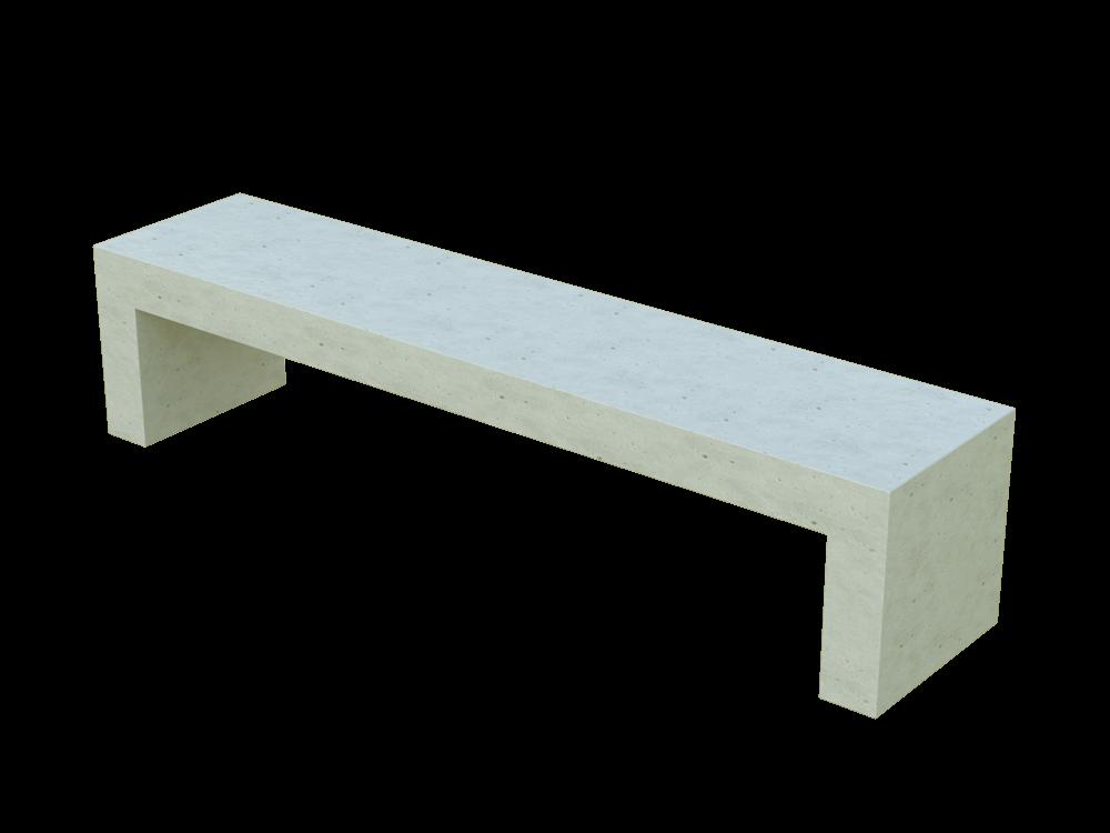 Скамья бетонная Bench (WHITE MONOCHROME)