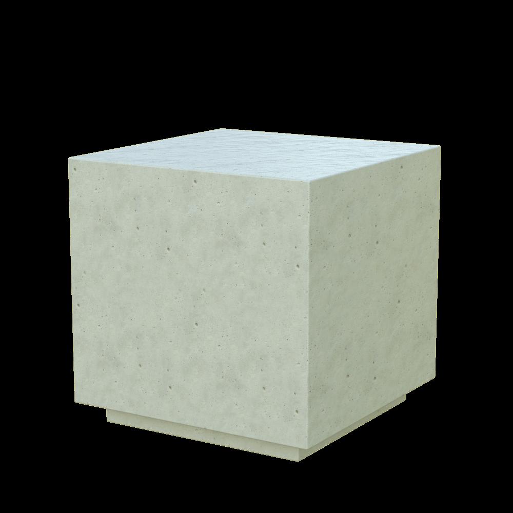 Бетонное модульное сиденье Cube (WHITE MONOCHROME)
